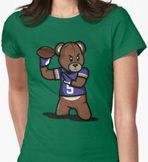 VICTRS - Teddy Football™ Womens Fitted T-Shirt