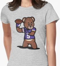 VICTRS - Teddy Football™ Women's Fitted T-Shirt
