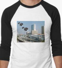 Aliens invade downtown Miami Men's Baseball ¾ T-Shirt