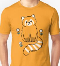 Red Panda with White Flowers Unisex T-Shirt