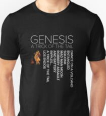 Genesis - A Trick of the Tail track listing Unisex T-Shirt