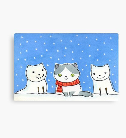 Snow Cats Canvas Print