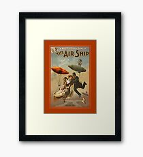 The Air Ship a Comedy Framed Print