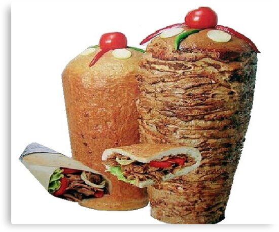 doner kebab canvas prints by meansmoothie redbubble