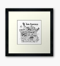 San Francisco Illustrated Map Framed Print