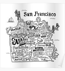 San Francisco Illustrated Map Poster