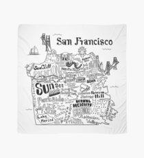 San Francisco Illustrated Map Scarf