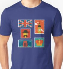London England Stamp Collection T-Shirt