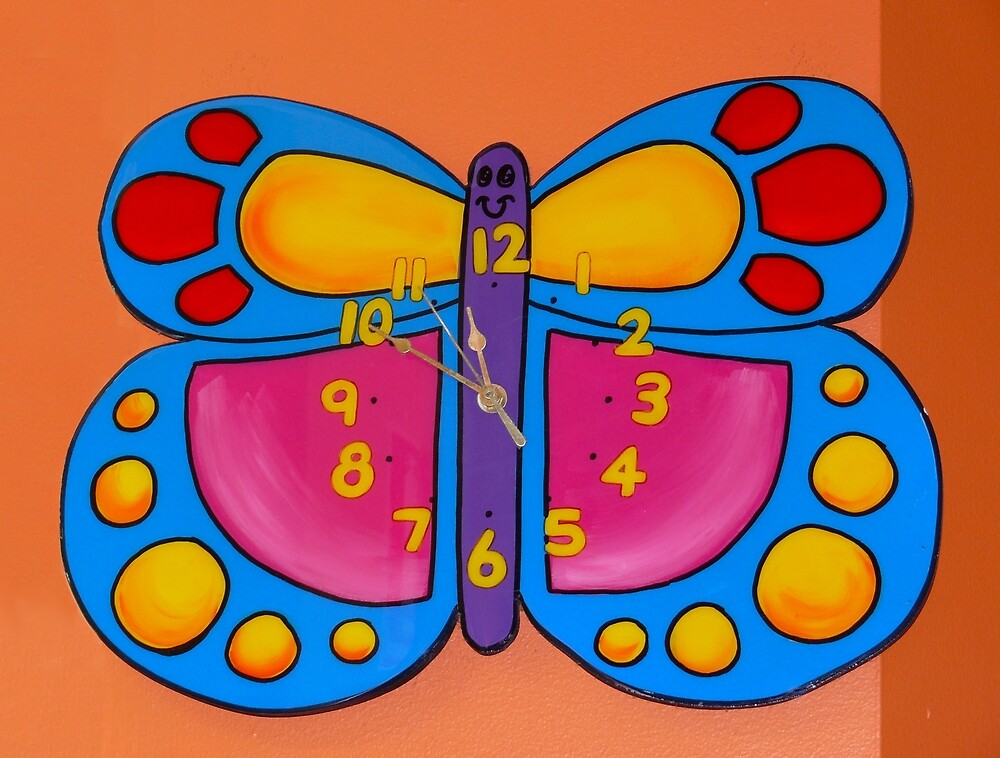 Butterfly Clock by Sharon Brown