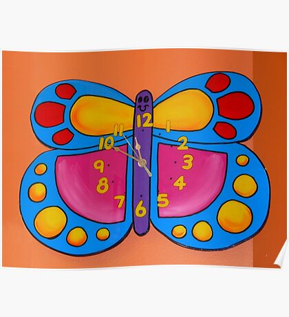 Butterfly Clock Poster