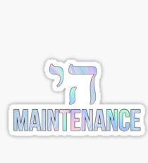 High Maintenance - rainbow Sticker