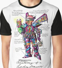 Upgraded Anatomy of a Ladydrawer Graphic T-Shirt