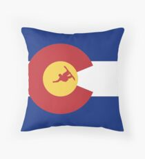 Colorado Snowboard Throw Pillow