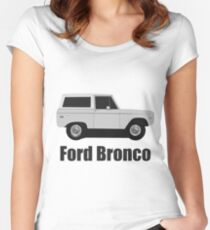 Ford Bronco (Old School) Women's Fitted Scoop T-Shirt