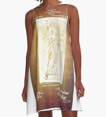 Statue If Liberty Original Patent By Bartholdi 1879 A-Line Dress