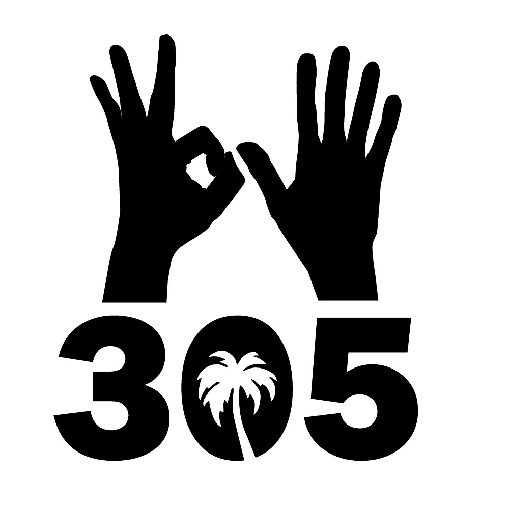 Quot 305 Area Code With Hand Signs And Palm Tree Quot By Chanmart