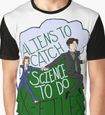 Aliens To Catch, Science To Do Graphic T-Shirt