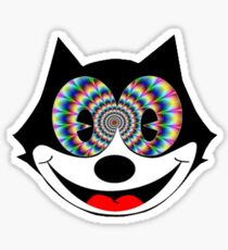 trippy felix Sticker