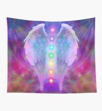Angel,chakra system, spiritual,love,faith,healing,healer Wall Tapestry
