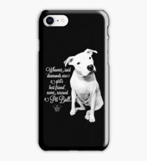 Girls Best Friend Rescued Pit Bull iPhone Case/Skin