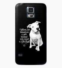 Funda/vinilo para Samsung Galaxy El mejor amigo rescatado pitbull de las muchachas