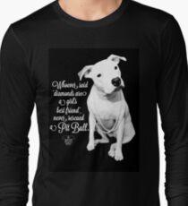 Girls Best Friend Rescued Pit Bull Long Sleeve T-Shirt
