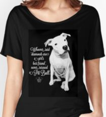 Girls Best Friend Rescued Pit Bull Women's Relaxed Fit T-Shirt