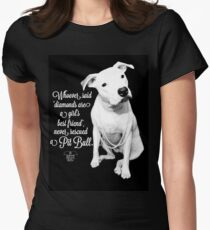 Girls Best Friend Rescued Pit Bull Womens Fitted T-Shirt