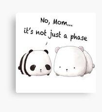 Emo Panda Canvas Print