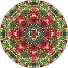 Holly Berries Mandala by Judi FitzPatrick