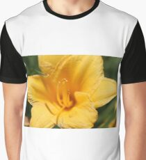 Yellow Lily Macro 1 Graphic T-Shirt