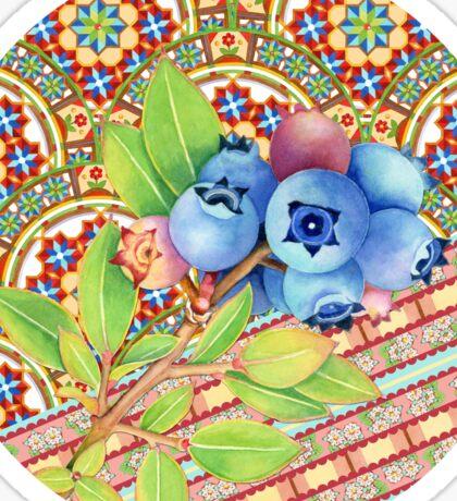 Rococo Nouveau Maine Blueberries Sticker