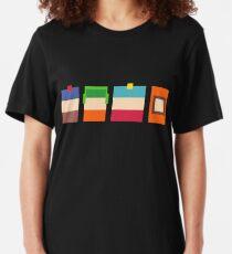 South Park Boys Pixel Art Slim Fit T-Shirt