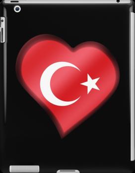 Turkish Flag - Turkey - Heart by graphix