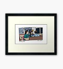X-Files - Diner Framed Print