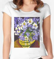 Agapanthus & Daisies Women's Fitted Scoop T-Shirt