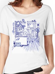 four armed boy.  Women's Relaxed Fit T-Shirt