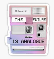 The future is analogue Sticker