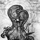 The Technological Singularity, (Drawing of a Sculpture) by Rich McLean