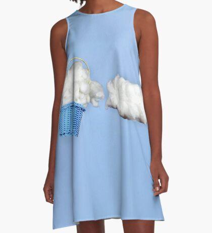 Der Wolkenharvester A-Linien Kleid