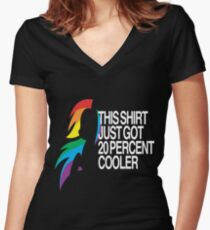 20% Cooler MLP Women's Fitted V-Neck T-Shirt