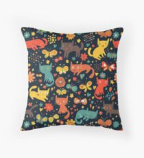 Cats and more cats. Throw Pillow