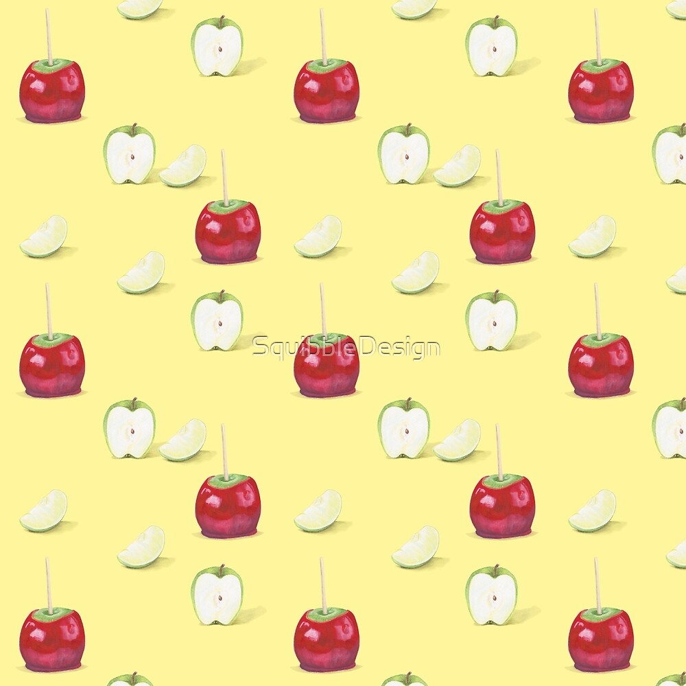Toffee Apple Pattern by SquibbleDesign