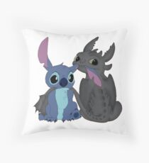 Toothless and Stitch Throw Pillow
