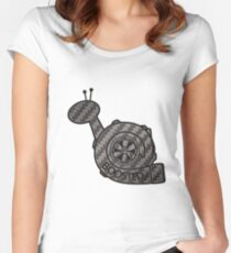 Carbon Fibre Boosted Turbo Snail Women's Fitted Scoop T-Shirt