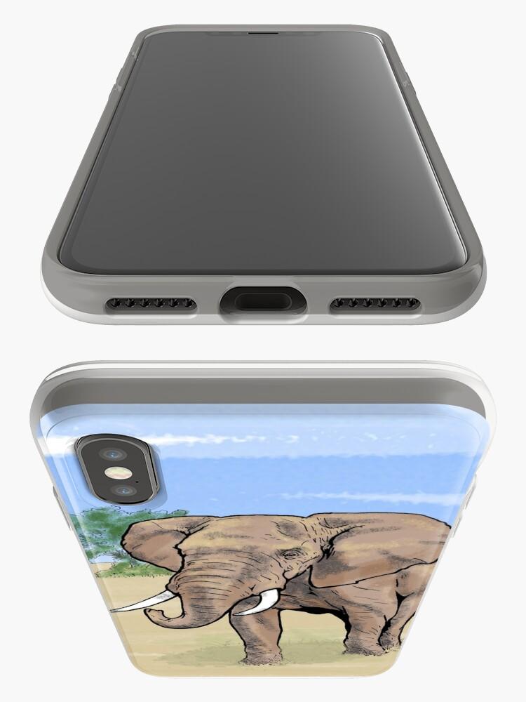 Alternative Ansicht von Einsamer Elefant iPhone-Hülle & Cover