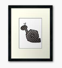 Carbon Fibre Turbo Snail Framed Print