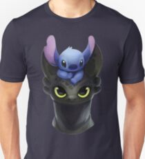 Stitch on Toothless T-Shirt