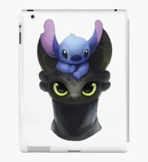 Stitch on Toothless iPad Case/Skin