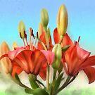 Rainbow Lilies by Lois  Bryan